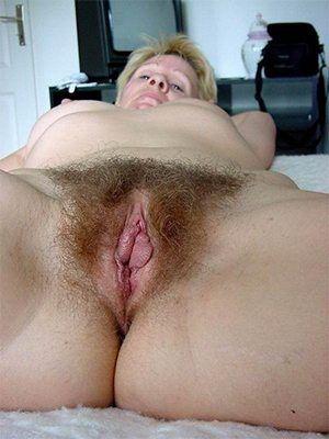 Hairy mature nude