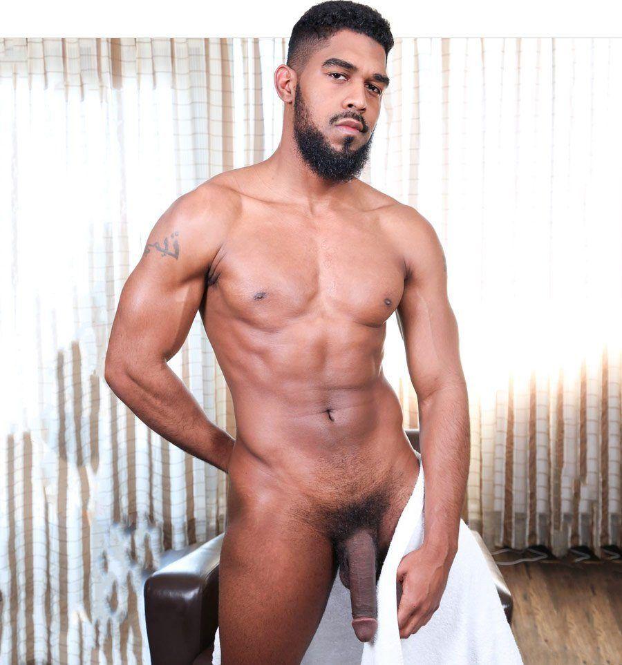 Handsome tall naked dark Black Guys