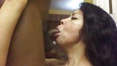 Latina swallows bbc cum