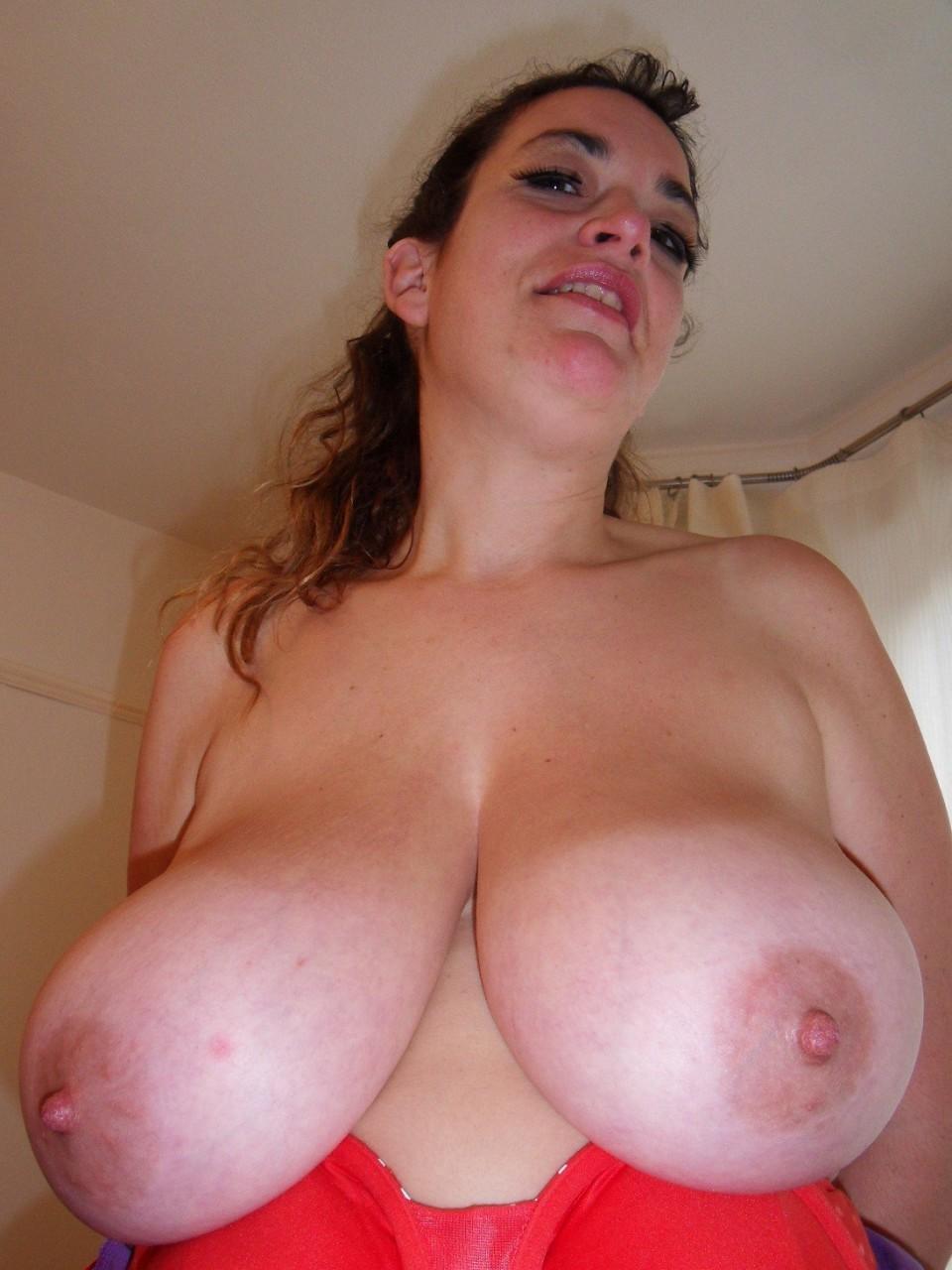Cum on saggy tits