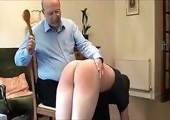 Spanking twins lick cock and crempie
