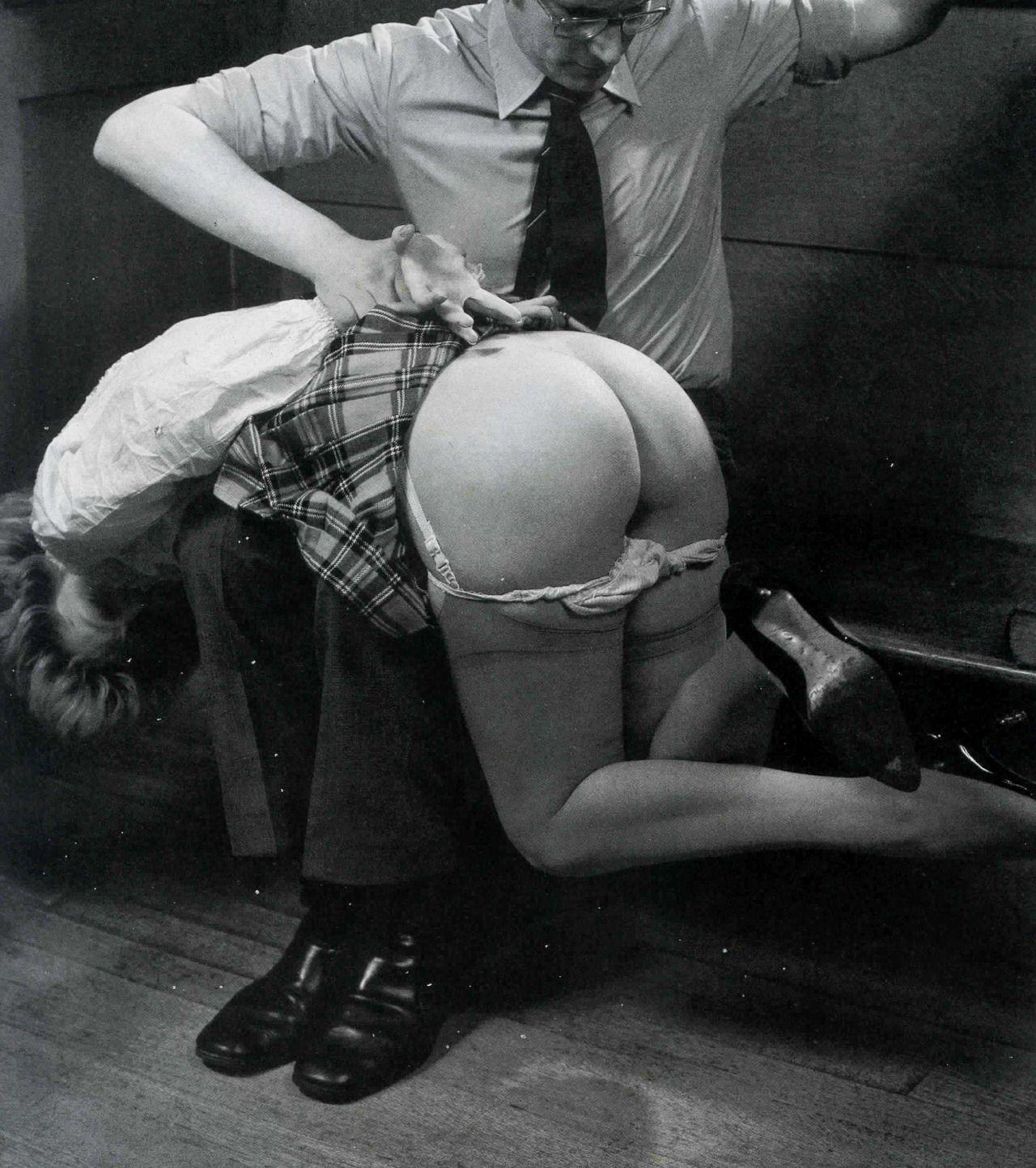 Spanking over knee