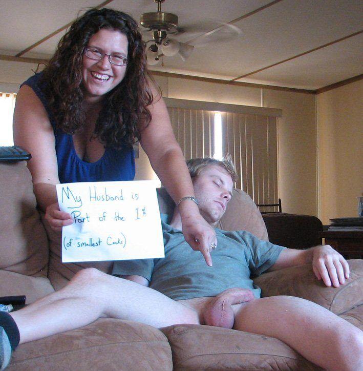 Cuckold wife hushand humiliated cum
