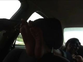 Car feet tickle